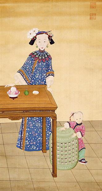 Empress Xiaoquancheng - Image: 《孝全成皇后便装像》