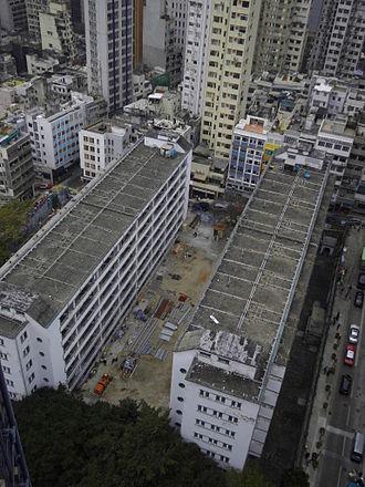 Three (2002 film) - Image: 從高空拍攝的前荷李活道警察宿舍