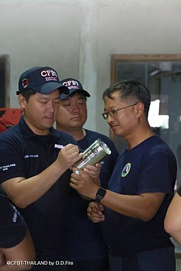 소방공무원 이형은 김준경 D.D. Fire & Safety Co.,Ltd. CEO Chadchaleo Bunnag 20190904CFBT-I Instructor and Tactical Ventilation Instructor International Course9