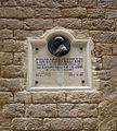 001 Aquí va néixer Francesc Moragas, c. Lledó.jpg