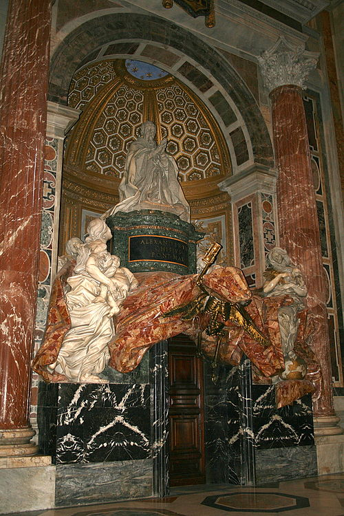 The tomb of Pope Alexander VII, by Gianlorenzo Bernini 0 Monument funeraire du pape Alexandre VII - St-Pierre - Vatican (1).jpg