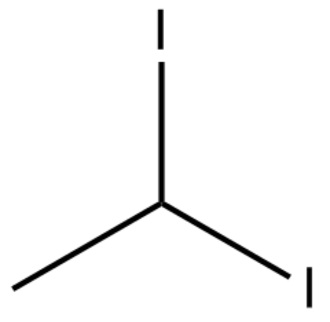 1,1-Diiodoethane - 1,1-diiodoethane(skeleton model)