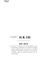 116th United States Congress H. R. 0000135 (1st session) - Federal Employee Antidiscrimination Act of 2019 B - Engrossed in House.pdf