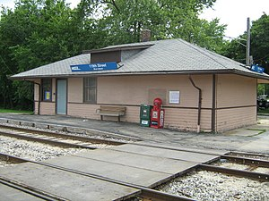 119th Street – Blue Island (Metra station) - Image: 119th Street Blue Island Metra Station