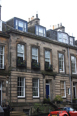 William Nicol (geologist) - Nicol's house, 12 Inverleith Terrace, Edinburgh