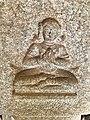 15th-16th century Achyutaraya temple yogini in namaste pose, Hampi Hindu monuments Karnataka.jpg