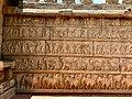 15th century Hazara Rama temple outer wall with Maha Ramanavami procession, Hampi Hindu monuments Karnataka 2.jpg