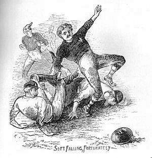 1872–73 in English football - Image: 1872 engl v scotland 4