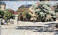 1885 Rohlfs Burgplatz am Schloss in Weimar anagoria.JPG