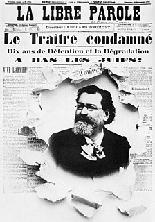 Édouard Drumont French journalist and writer, founder of the Antisemitic League of France (1844-1917)