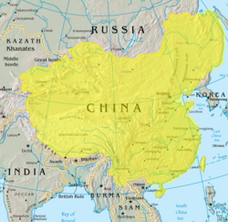 The Qing dynasty in 1765