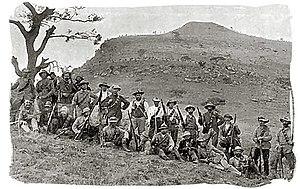 Boerekrygers gedurende die slag van spioenkop