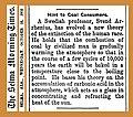 19021015 Hint to Coal Consumers - Svante Arrhenius - The Selma Morning Times - Global warming.jpg
