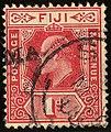 1908 1d red Fiji used Yv60 SG119.jpg