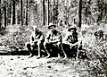 1930. Left to right Alex J. Jaenicke, Lawrence Frizzell, and Clarence Young. Western pine beetle control project. Fremont NF, OR. (33177298354).jpg