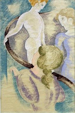 Trzy postacie przy poręczy (1933)