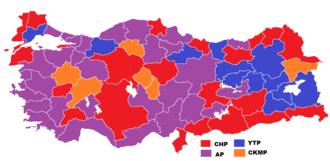 Turkish general election, 1961 - Image: 1961 genel seçimleri