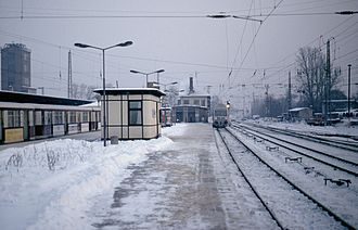 Erkner station - Erkner station in 1993.