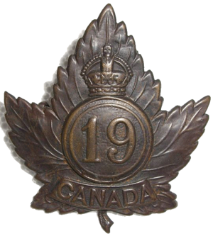 19th Battalion (Central Ontario), CEF - The cap badge of the 19th Battalion