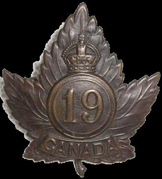 19th Battalion (Central Ontario), CEF - The cap badge of the 19th Battalion
