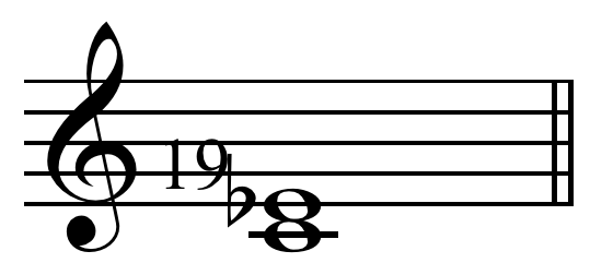 19th harmonic on C