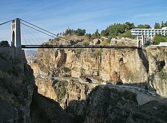 Sidi M'Cid Bridge - Sidi M'Cid Bridge over the Rhummel River
