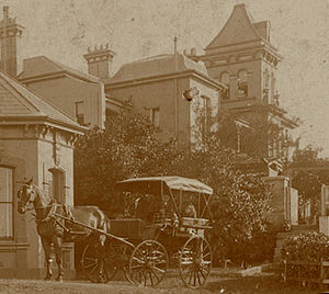 Bellevue, Glebe - Close view of Venetia 1899