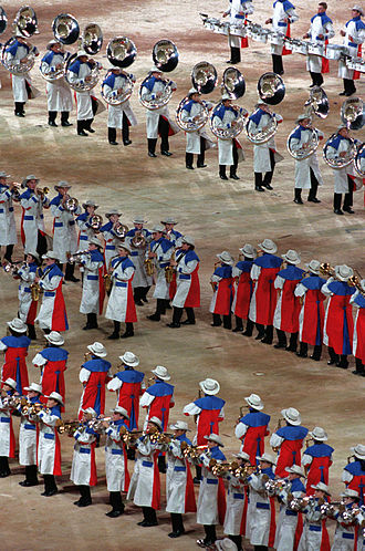 2000 Summer Olympics opening ceremony - The Olympic Band performs
