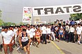 2000 young people participating in the RUN AGAINST DRUGS, organized to mark the International Day Against Drug Abuse and Illicit Trafficking in New Delhi on June 26, 2004.jpg