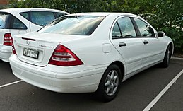 2003 Mercedes-Benz C 180 Kompressor (W 203 MY03) Classic sedan (2010-05-04).jpg