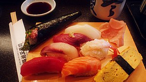Pescetarianism - Japanese nigiri-sushi; many cultures offer pescetarian-friendly cuisine.