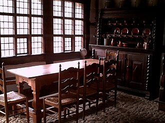 Dining room - Historical example of a domestic dining room in Germany.