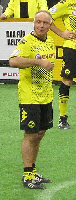 Michael Rummenigge - Rummenigge playing for a Borussia Dortmund veterans team in 2011