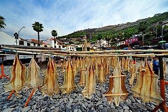 Câmara de Lobos - Port with dry fish