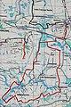 2012 Powiat pszczyński, Pawłowice, Mapa szlaków rowerowych (02).jpg