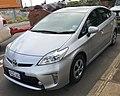 2013 Toyota Prius (ZVW30R) Hybrid liftback (2018-06-06) 01.jpg