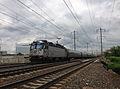 2014-05-15 15 01 21 Amtrak train heading south along the Northeast Corridor rail line in Trenton, New Jersey.JPG