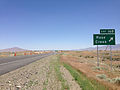 2014-06-12 12 39 47 Sign for Exit 168 along eastbound Interstate 80 and northbound U.S. Route 95 near Rose Creek, Nevada.JPG