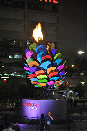 2015 Pan American Games opening ceremony - The 2015 Toronto Pan American Games Cauldron