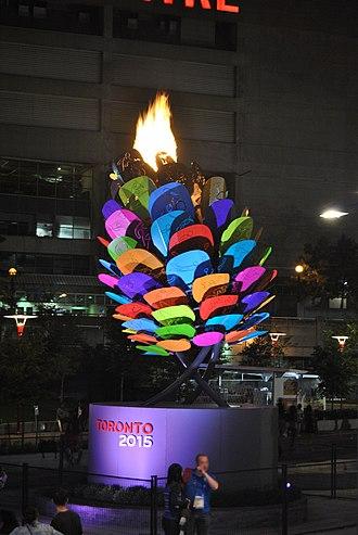 2015 Pan American Games opening ceremony - The 2015 Toronto Pan American Games Cauldron