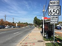 2016-10-18 13 23 35 View north along Maryland State Route 650 (New Hampshire Avenue) at Randolph Road in Colesville, Montgomery County, Maryland.jpg