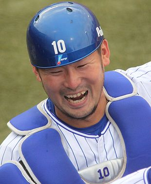20160723 Yasutaka Tobashira catcher of the Yokohama DeNA BayStars, at Yokohama Stadium.jpg