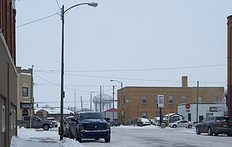 Estevan - Estevan water tower and train station