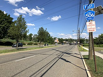 West Caldwell, New Jersey - CR 506 eastbound in West Caldwell