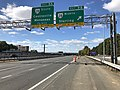 2018-10-24 13 26 00 View west along Virginia State Route 267 (Dulles Toll Road) at Exit 9B (Virginia State Route 28 NORTH, Sterling) in McNair, Fairfax County, Virginia.jpg
