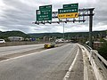 2019-05-17 12 47 40 View west along Interstate 68 and U.S. Route 40 and south along U.S. Route 220 (National Freeway) at Exit 43C (Downtown) in Cumberland, Allegany County, Maryland.jpg
