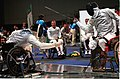 221000 - Wheelchair Fencing Michael Alston action 2 - 3b - Sydney 2000 match photo.jpg