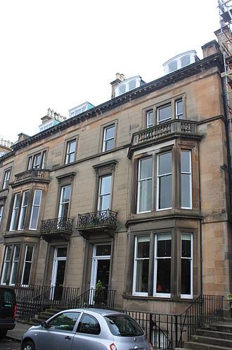 Stair Agnew - Stair Agnew's house at 22 Buckingham Terrace, Edinburgh