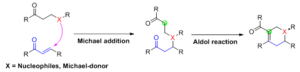Robinson annulation - Generalised Tandem Michael-aldol reaction