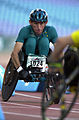 231000 - Athletics wheelchair racing 800m T51 final Fabian Blattman action - 3b - 2000 Sydney race photo.jpg